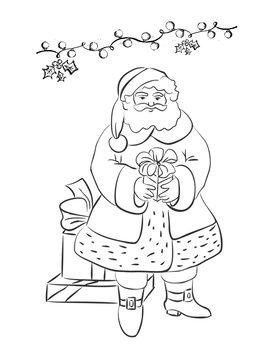 Christmas Coloring Pages - 7 Pictures - Great Holiday Activity! - Grades K-3