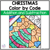 Christmas Coloring Pages Addition and Subtraction Color by Number