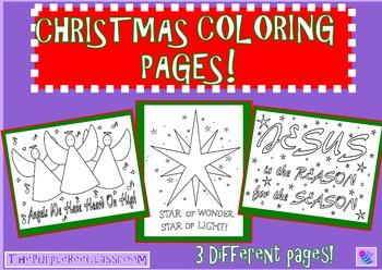 Christmas Coloring Pages Biblical Christmas Angels, Jesus, Christmas Star