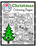 Christmas Coloring Pages Booklet: Santa, Reindeer, Stockin
