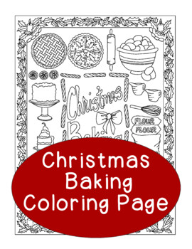 Christmas Coloring Page, Bulletin Board, Baking Holiday, Pie Gingerbread