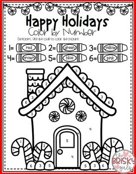 Christmas Coloring Pages (Color By Number) by The Brisky ...