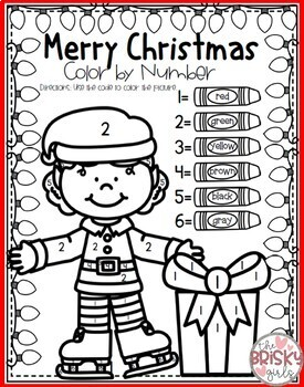 Christmas Coloring Pages (Color By Number)