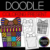 Christmas Coloring Pages: Doodle Shape Present {Made by Cr