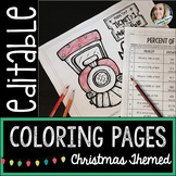 Editable Christmas Coloring Pages