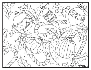 Christmas Coloring Pages Highly Detailed