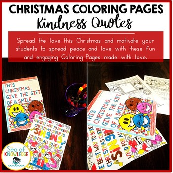 Christmas Coloring Pages - Kindness Quotes Posters