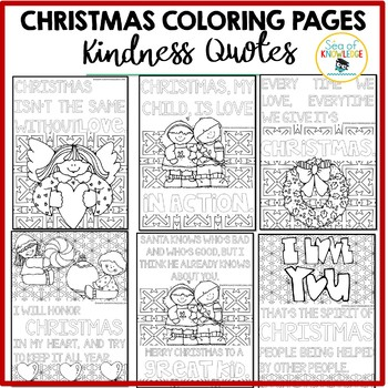 christmas coloring pages kindness quotes posters