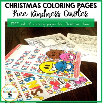 christmas coloring pages kindness quotes posters free