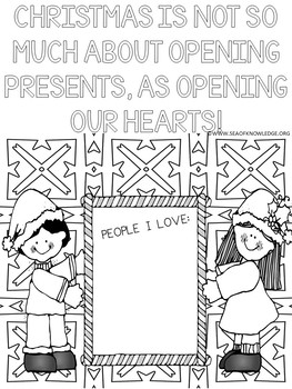 Christmas Coloring Pages - Kindness Quotes Posters FREE