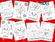 Christmas Coloring Pages - SET 2 - The Crayon Crowd, Santa Clause, elf, tree
