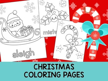 christmas coloring pages set 2 the crayon crowd santa clause elf tree