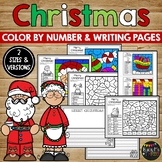 Christmas Coloring Pages #2, Santa and Tree Crafty Color Page