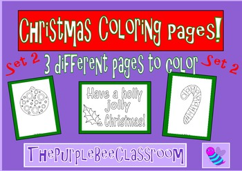 Christmas Coloring Pages Set 2