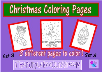 Christmas Coloring Pages Set 3