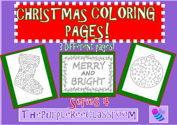 Christmas Coloring Pages Set 4
