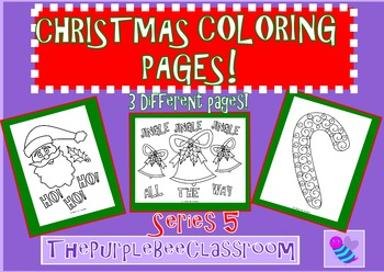 Christmas Coloring Pages Set 5
