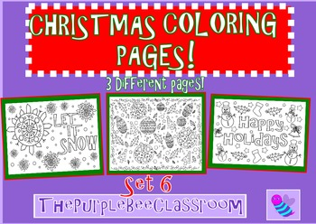 Christmas Coloring Pages Set 6