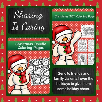 Christmas Coloring Pages: Sharing is Caring