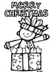 Christmas Coloring Pages -Sheets  (melon head Kids design) Christmas activities