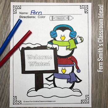 Christmas Coloring Pages and Winter Coloring Pages Bundle