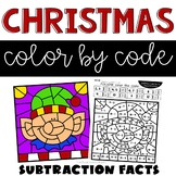Christmas Coloring Pages for Subtraction Facts