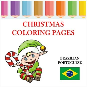Christmas Coloring Pages in Portuguese - Natal para colorir