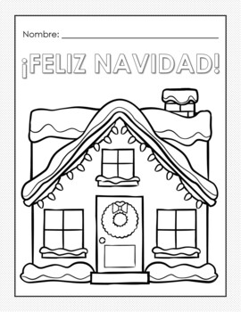 spanish coloring pages christmas | Christmas Coloring Pages in Spanish - Navidad Hojas de ...