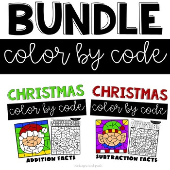 Free Color by Numbers Worksheets | Christmas math worksheets ... | 350x350