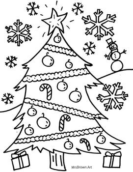 Christmas Coloring Sheet {MrsBrown.Art}
