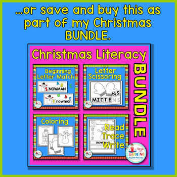 Christmas Coloring Sheets - A Christmas Literacy Center