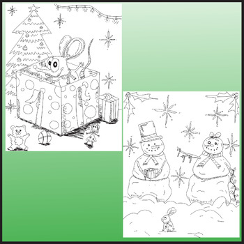 Christmas Coloring Pages, Zen Doodle Holiday Activity by ...