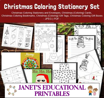 Christmas Coloring Stationery Bundle - 8 in 1