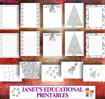 Christmas Coloring Stationery and Envelopes