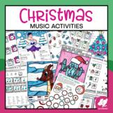 Christmas Music Worksheets & Coloring