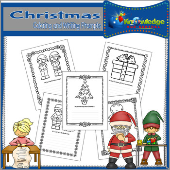 Christmas Coloring & Writing Prompts