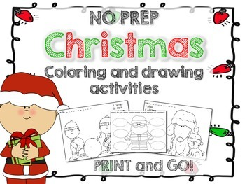 Christmas Coloring and Drawing activities