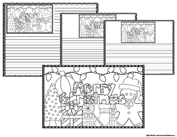 Christmas Coloring Page: Lined Christmas Writing Paper too