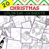 Christmas Coloring-in sheets