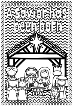 Christmas Coloring Pages ~ The Birth of Jesus ~ Bible Theme