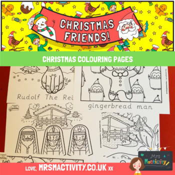 Christmas Coloring with Word Trace