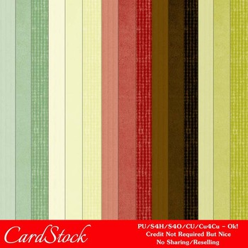 Christmas Colors 10 Scrapbook Size Digital Papers Package 1