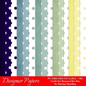 Christmas Colors 7 Scrapbook Size Digital Papers Package 2