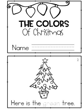 Christmas Colors Emergent Reader