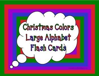 Christmas Colors Large Alphabet Flash Cards