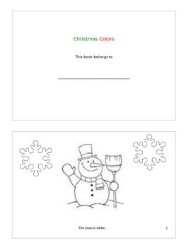 Christmas Colors- Printable Book