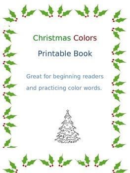 Christmas Colors- Printable Book