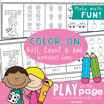 Color On! Print & Photocopy Dice Game & Worksheet