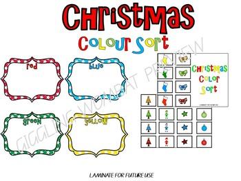 Christmas Colour Sort