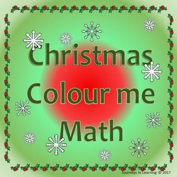 Christmas Colour me Math
